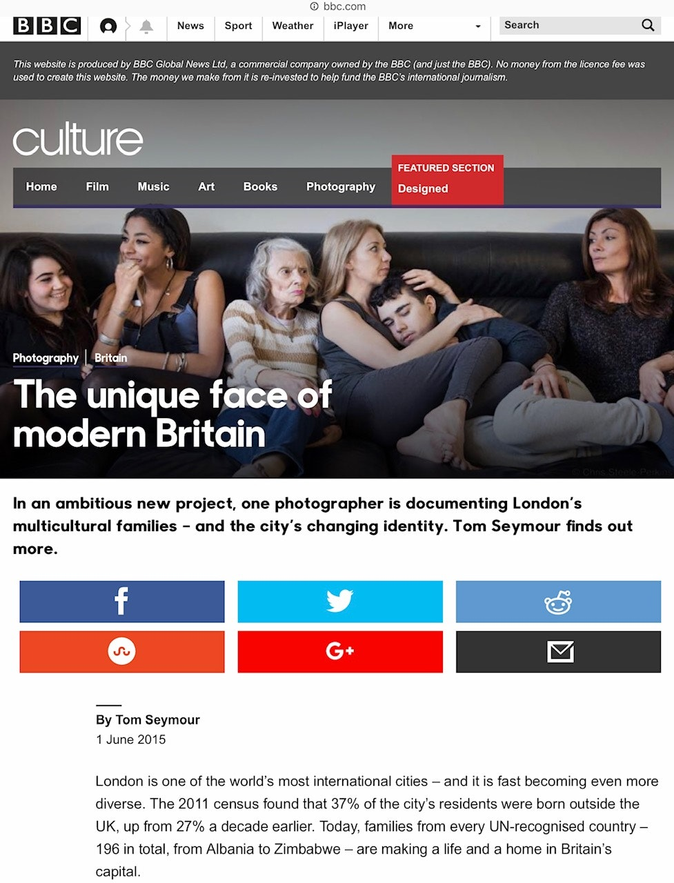 The New Londoners on the BBC