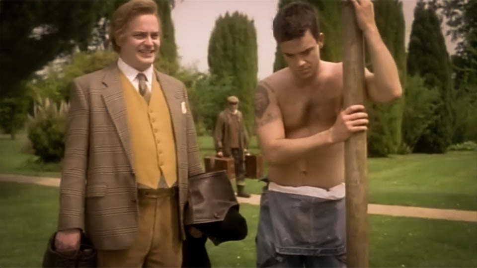 """""""The Fast Show"""" Ted & Ralph with Robbie Williams"""