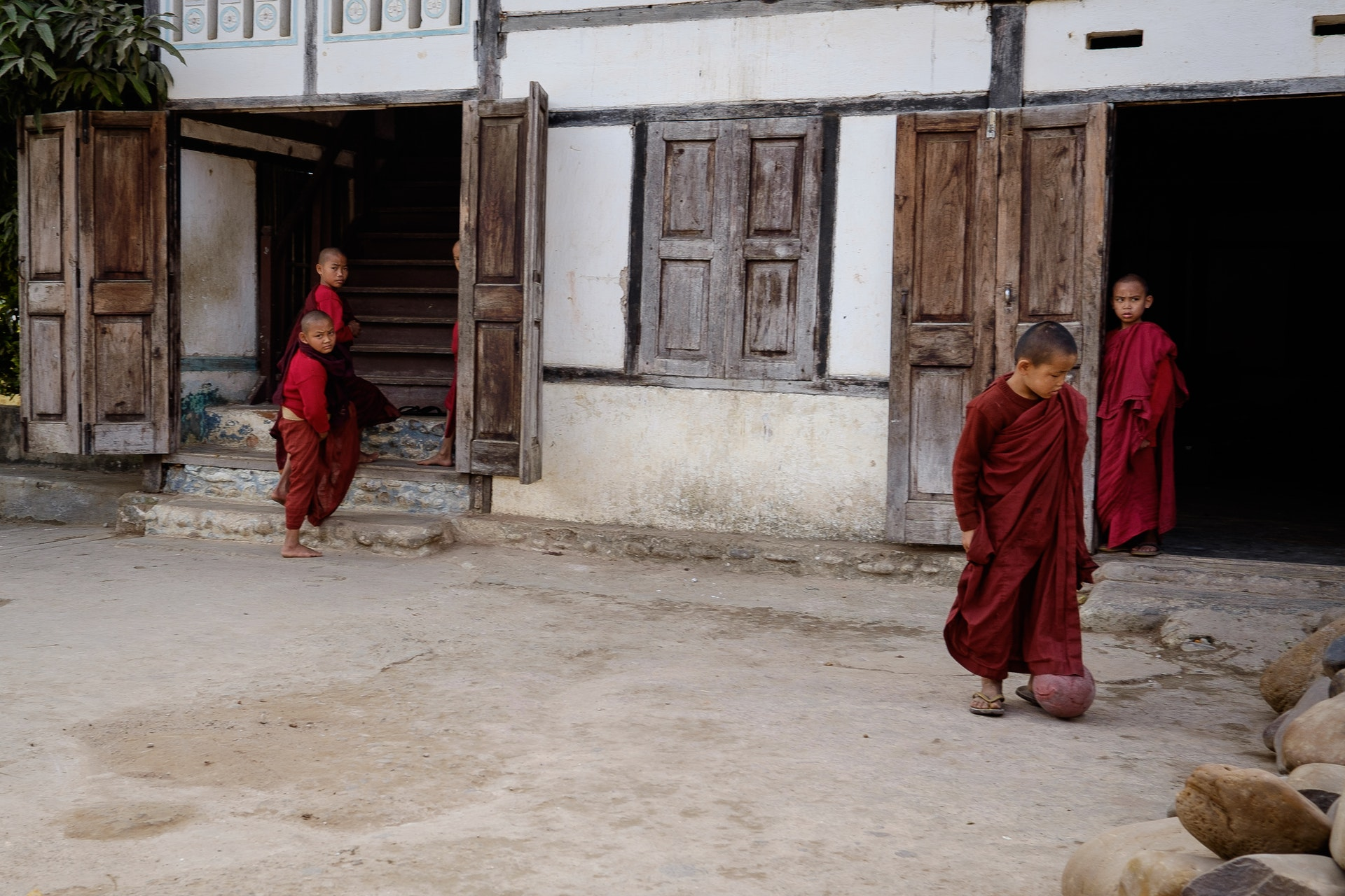 Novice monks in Hsipaw, Myanmar 1