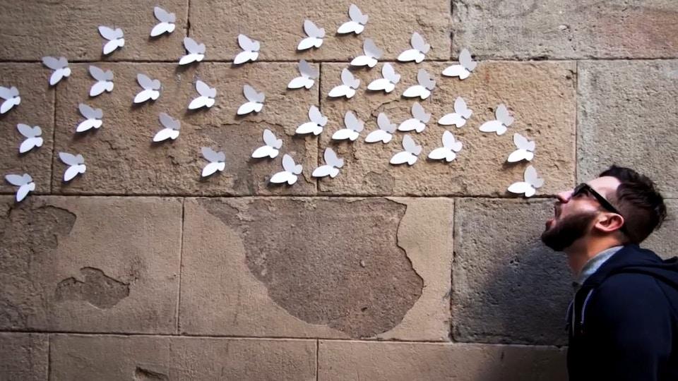 9,000 White Butterflies