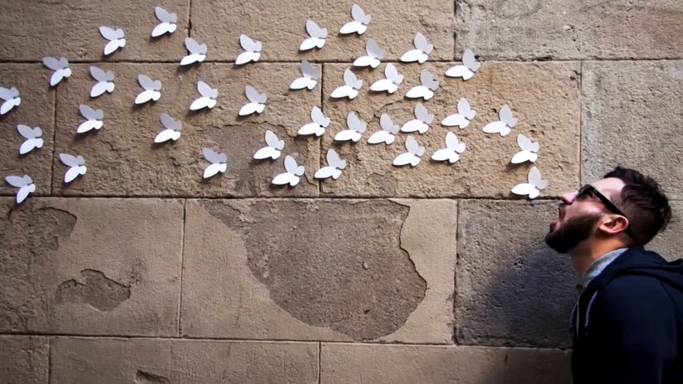 9,000 White Butterflies