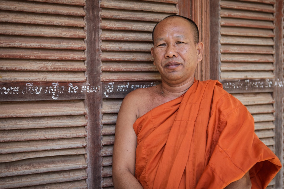Portrait of a Buddhist monk for GIZ