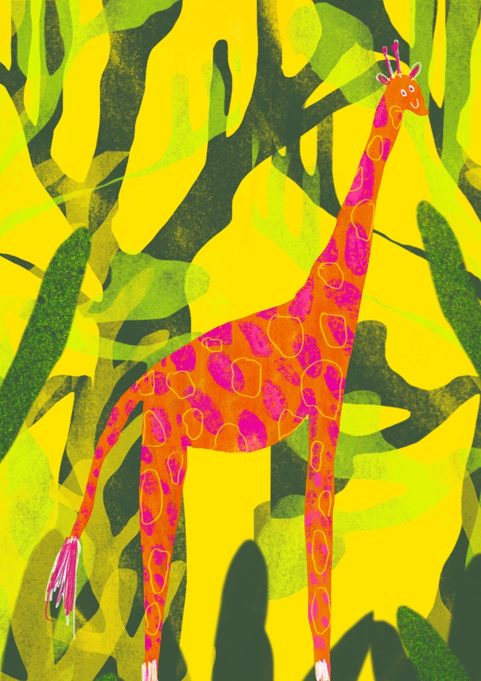 Giraffe print business cards