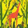 Giraffe print business cards