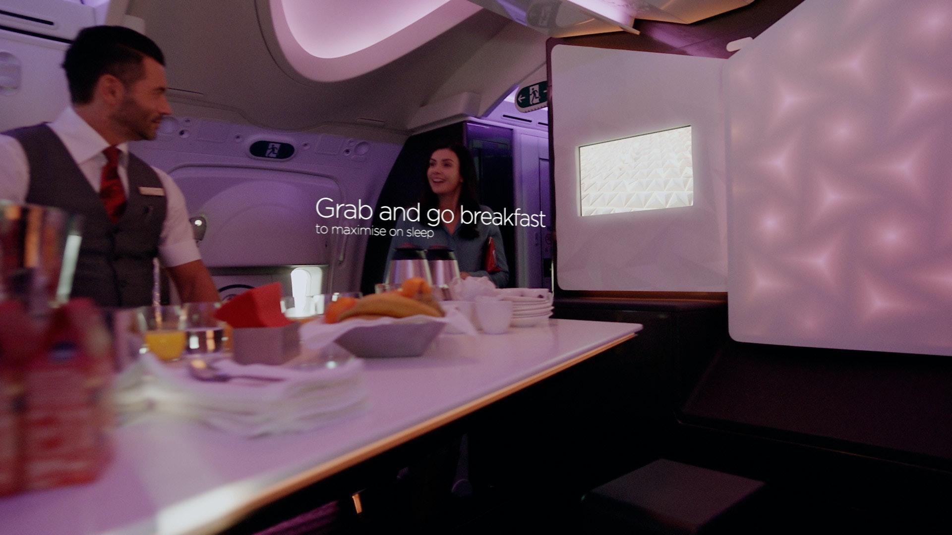 Virgin Atlantic premium economy - Peter Eszenyi | VFX