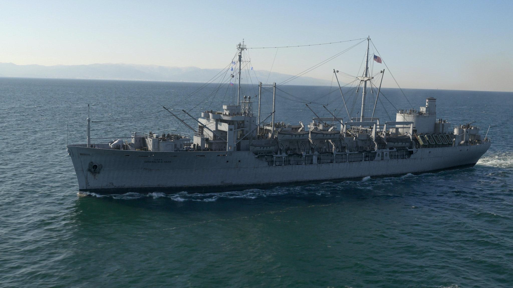 USS HAAN on the way to Korea
