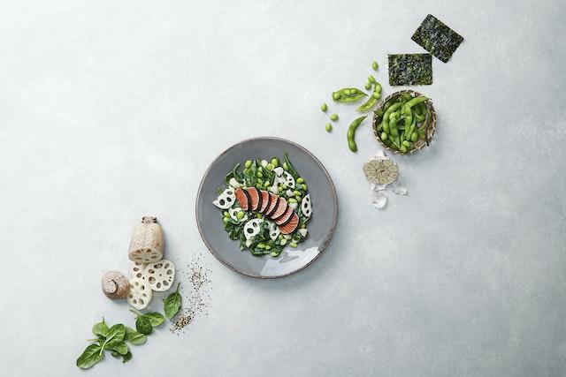Tataki salmao e legumes9189