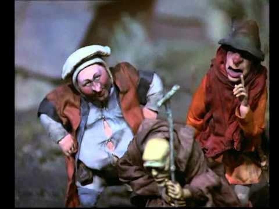 "C4 animated series- Canterbury Tales Tim McInnerny in ""The Canterbury Tales: The Pardoner's Tale"""