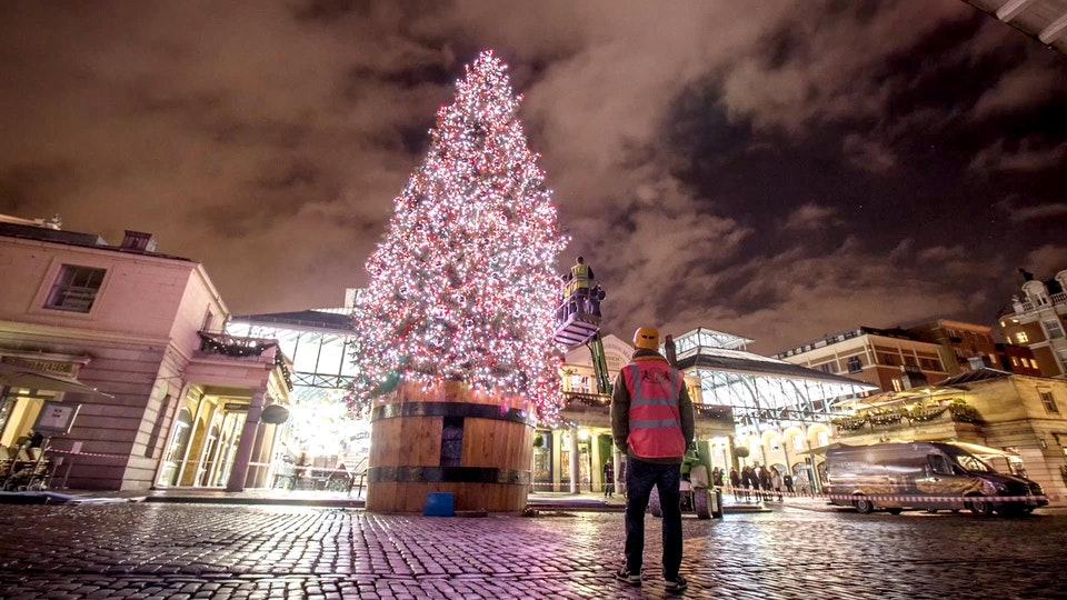 Covent Garden - Christmas Lights Timelapse