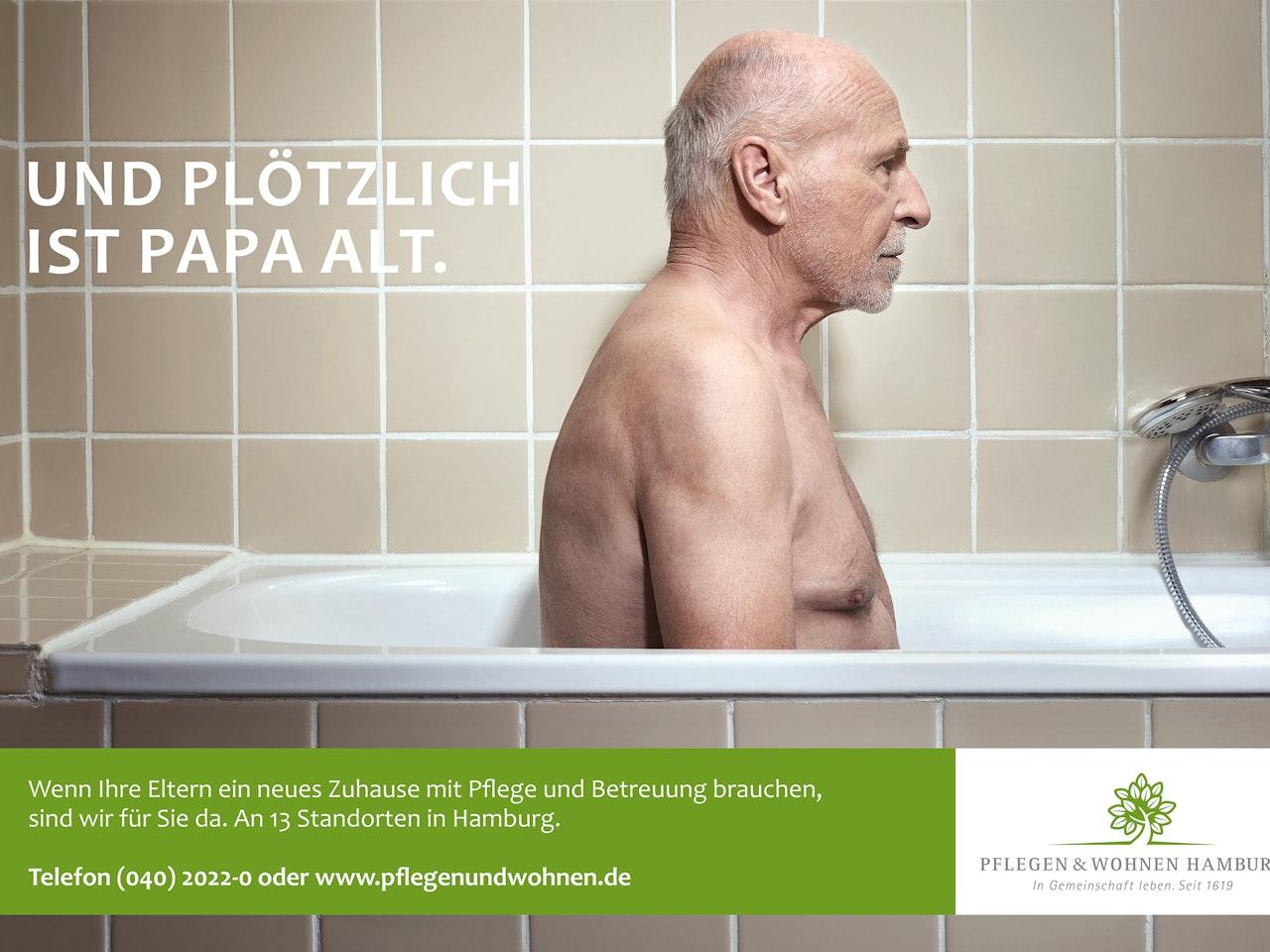Ads - Pflegen&Wohnen Hamburg  /  Photographer: Per Schorn  /  Agency: Brandmarke