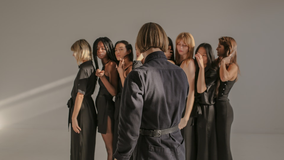 women for women in black film, marina london — styling