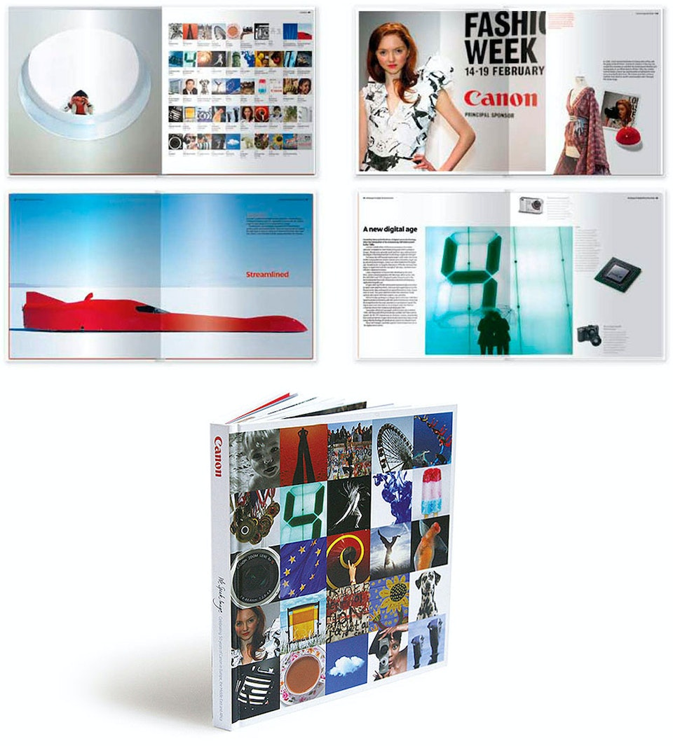 Canon Commemorative Book | Editor - <strong>Canon Commemorative Book | Editor</strong>  To celebrate 50 years of business in Europe, Canon commissioned a commemorative book to highlight the amazing work that it does. I worked with the client, writers and designers – and wrote sections of the book myself – to realise the project, which was launched at an event in Monaco.  Design: Mark Cox / Dan Tuck Agency: TileyWoodman