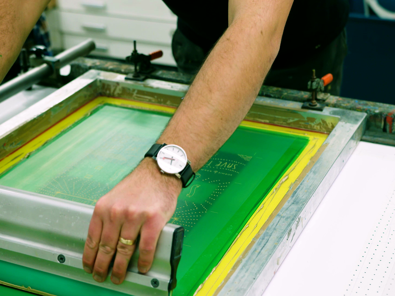 Screenprinting video feature in Lagom Mag