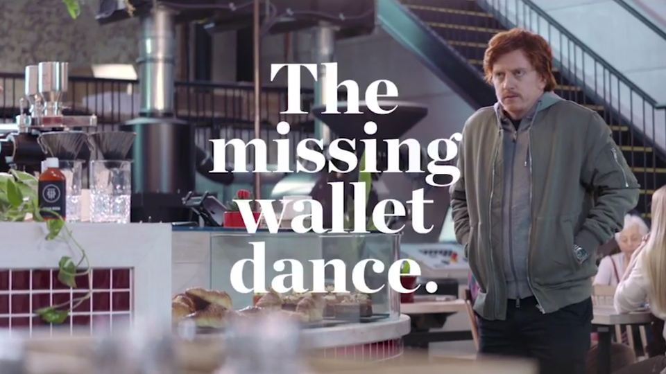 Westpac 'The missing wallet dance'