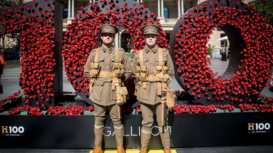 History Channel H100 'We Remember ANZAC Day Event'