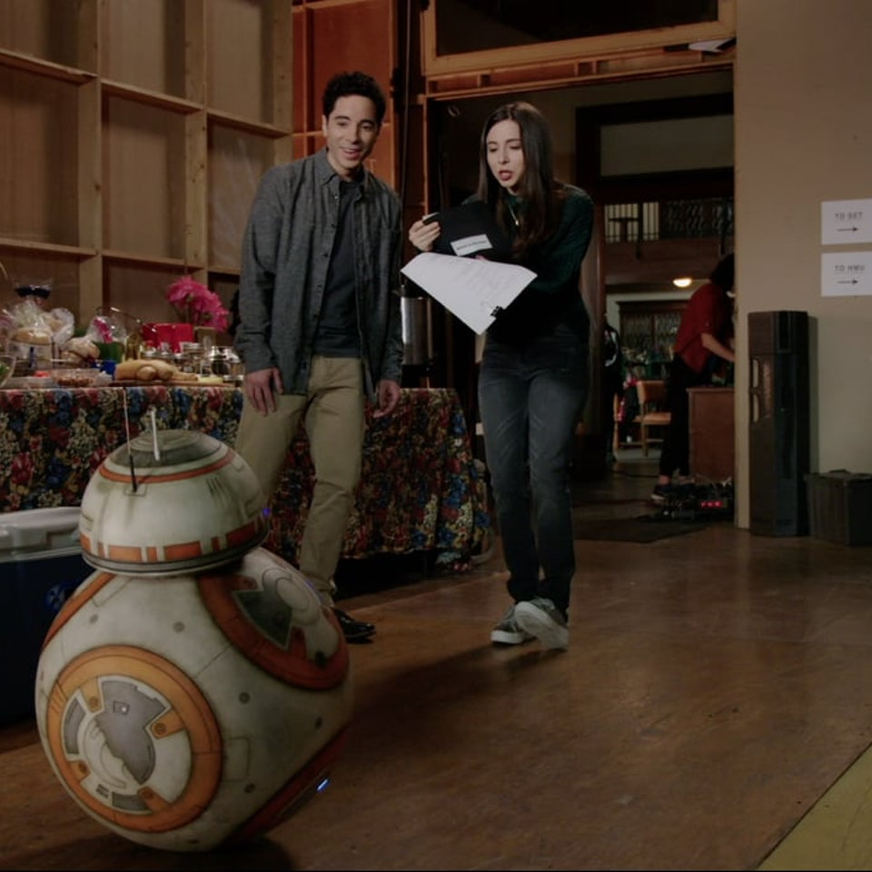 Klutch: A Creative Company - Esther and Benji from Freeform's brand new show Alone Together get paid a visit by BB-8 in this promo for upcoming Star Wars: The Last Jedi