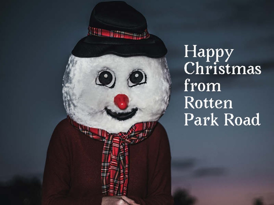 Festive greetings to our merry olde band of fans!