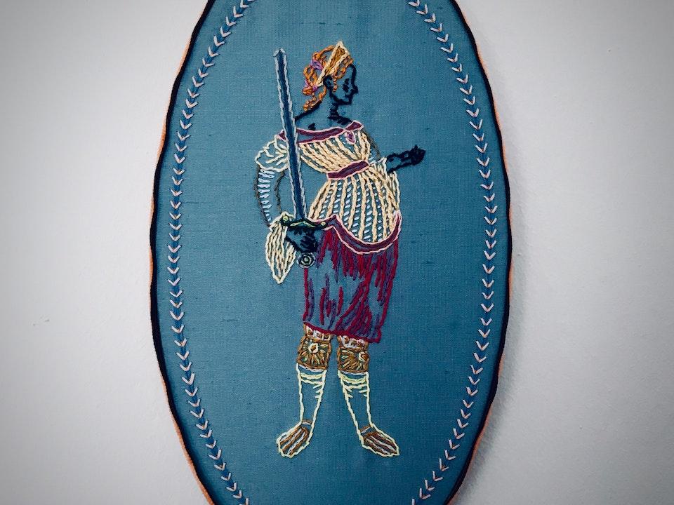 Louisa Thomas: Costume Designer: 'Embroidery in Blue' Loui T quarentine embroiderey series one