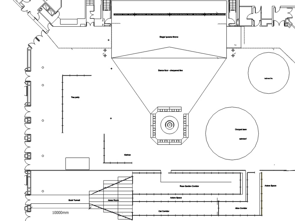 Alice's Adventures Underground - LUSH - Alice event design floorplan