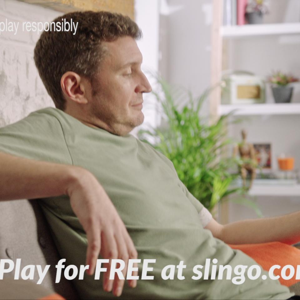 'Slingo for it' TVC campaign slingo tennis 2