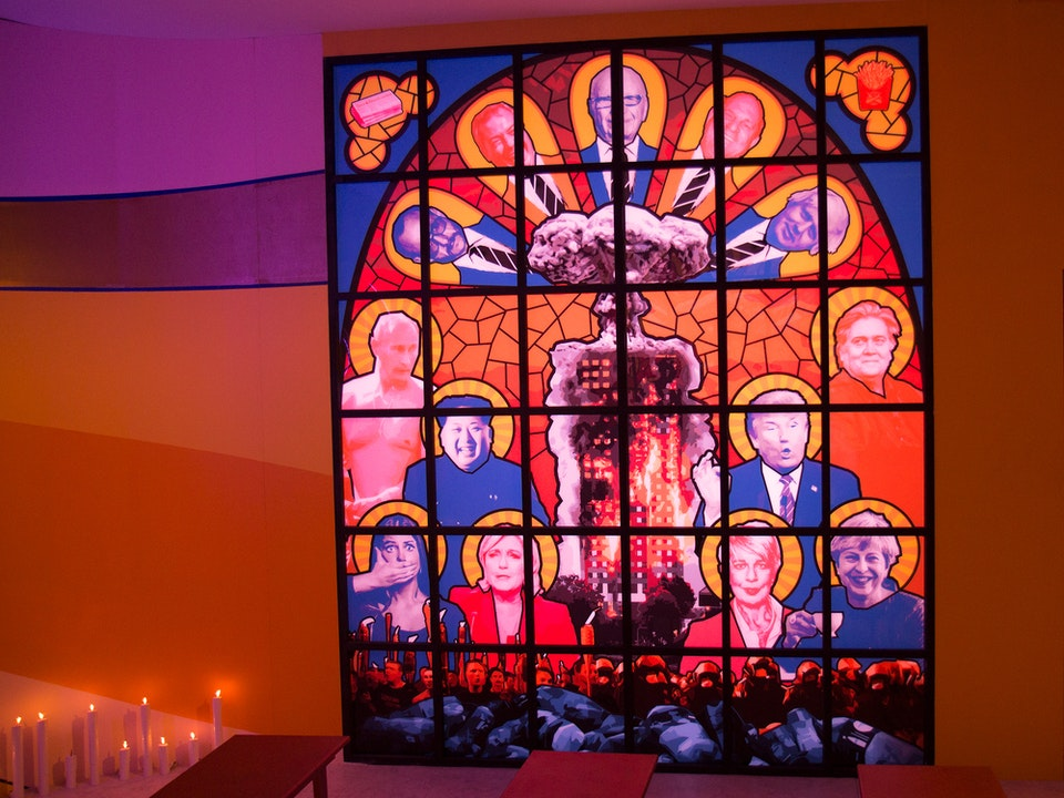 Inside Pussy Riot | The Saatchi Gallery - stained glass