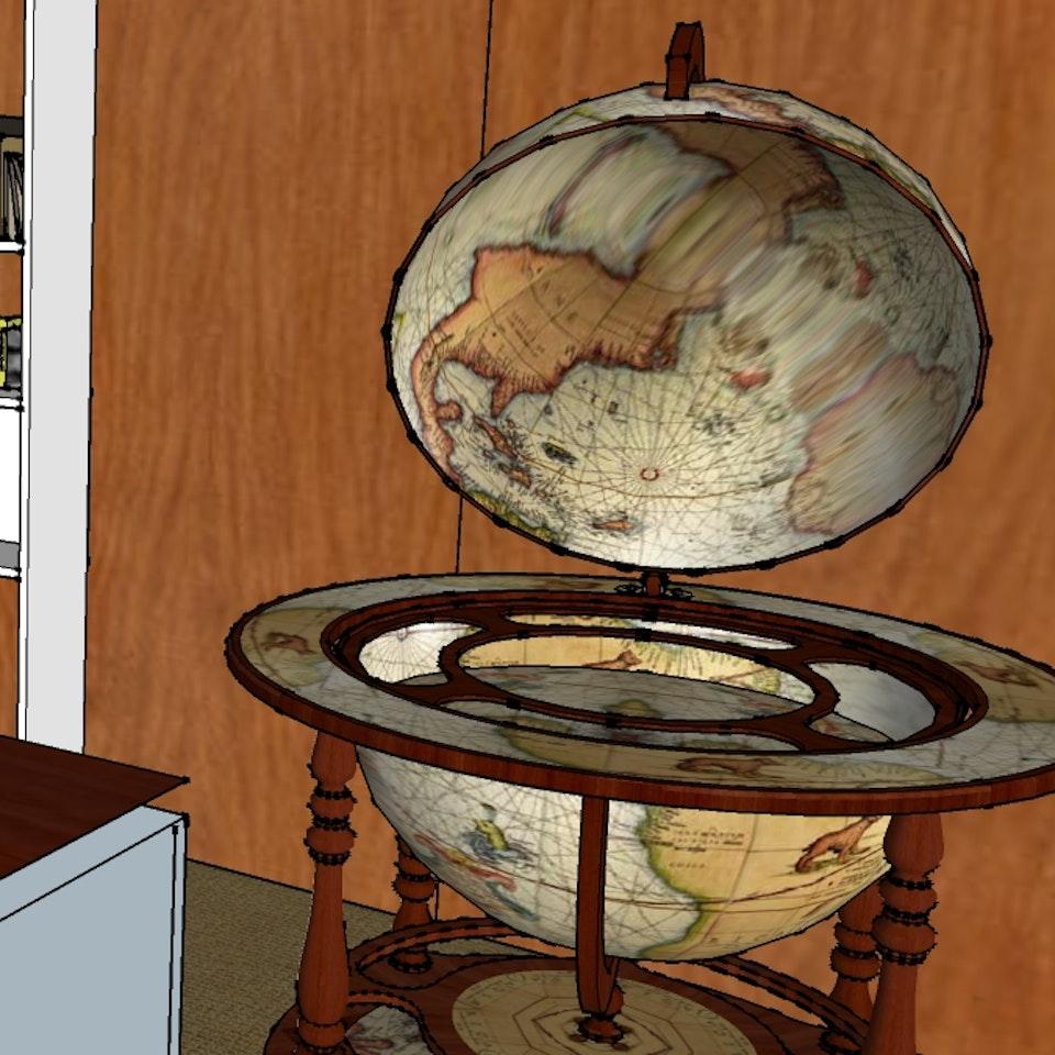 Trigger Mortis : Unlocking Bond - close up desk plan