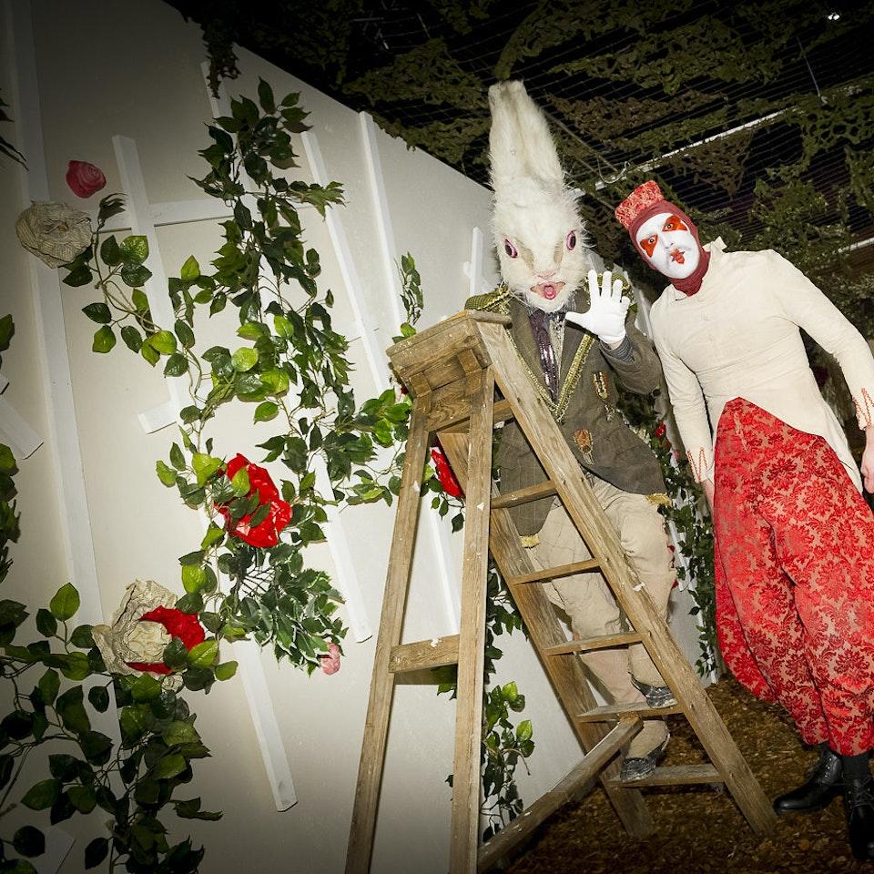 Alice's Adventures Underground ALICE LUSH ROSE GDN RABBIT