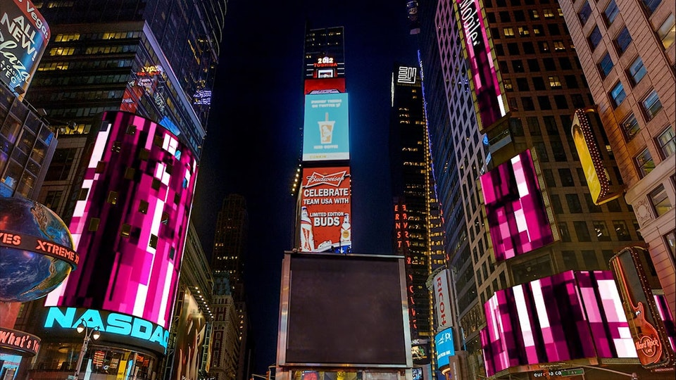 T-Mobile - Design and Animation for Nasdaq / Reuters in New Yorks Time Saquare