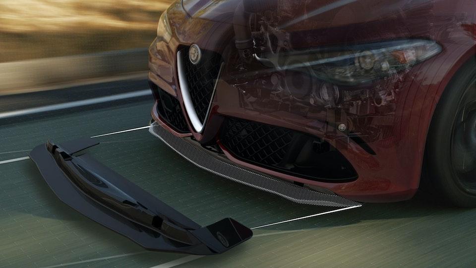 Alfa Romeo   Giulia Quadrifolgio Splitter