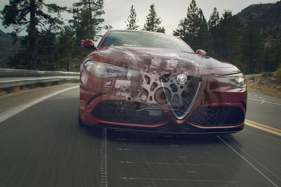 Alfa Romeo   Giulia Quadrifolgio Engine