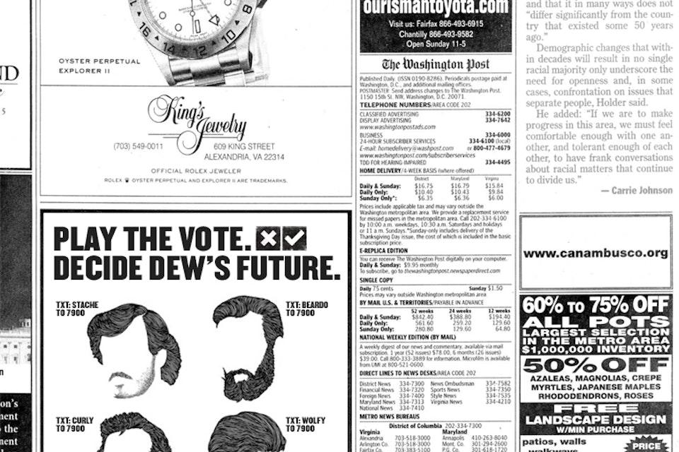 Mountain Dew - Dewmocracy newspaper