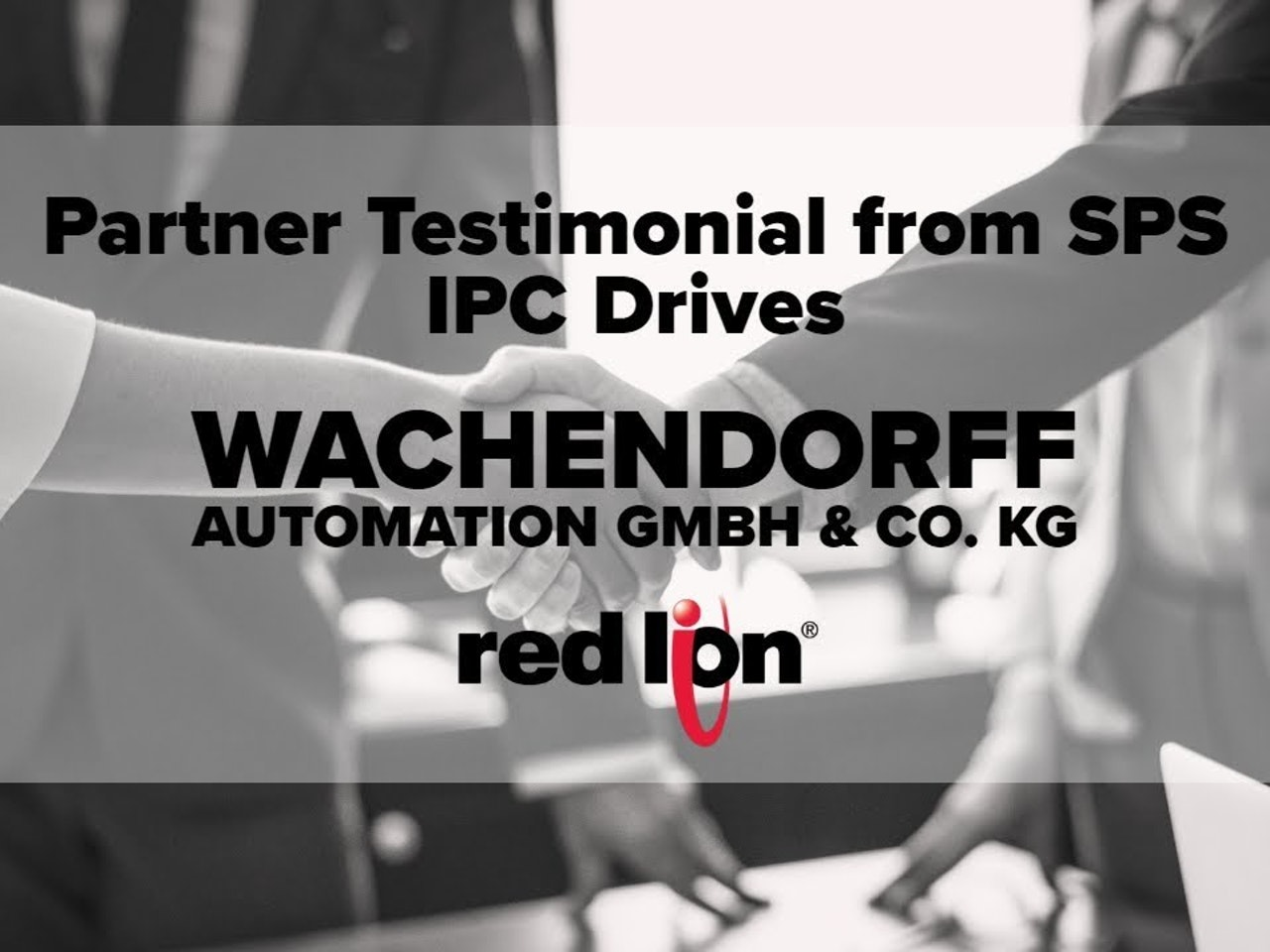 Partner Testimonial from Wachendorff Automation GmbH and Co. KG. - SPS IPC Drives