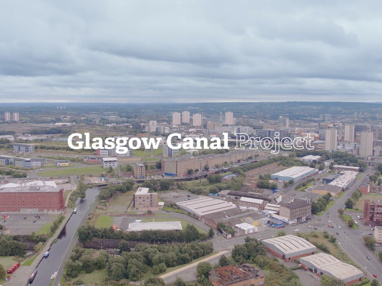 New Work: Lighting Camera Op - Glasgow Canal Project Video