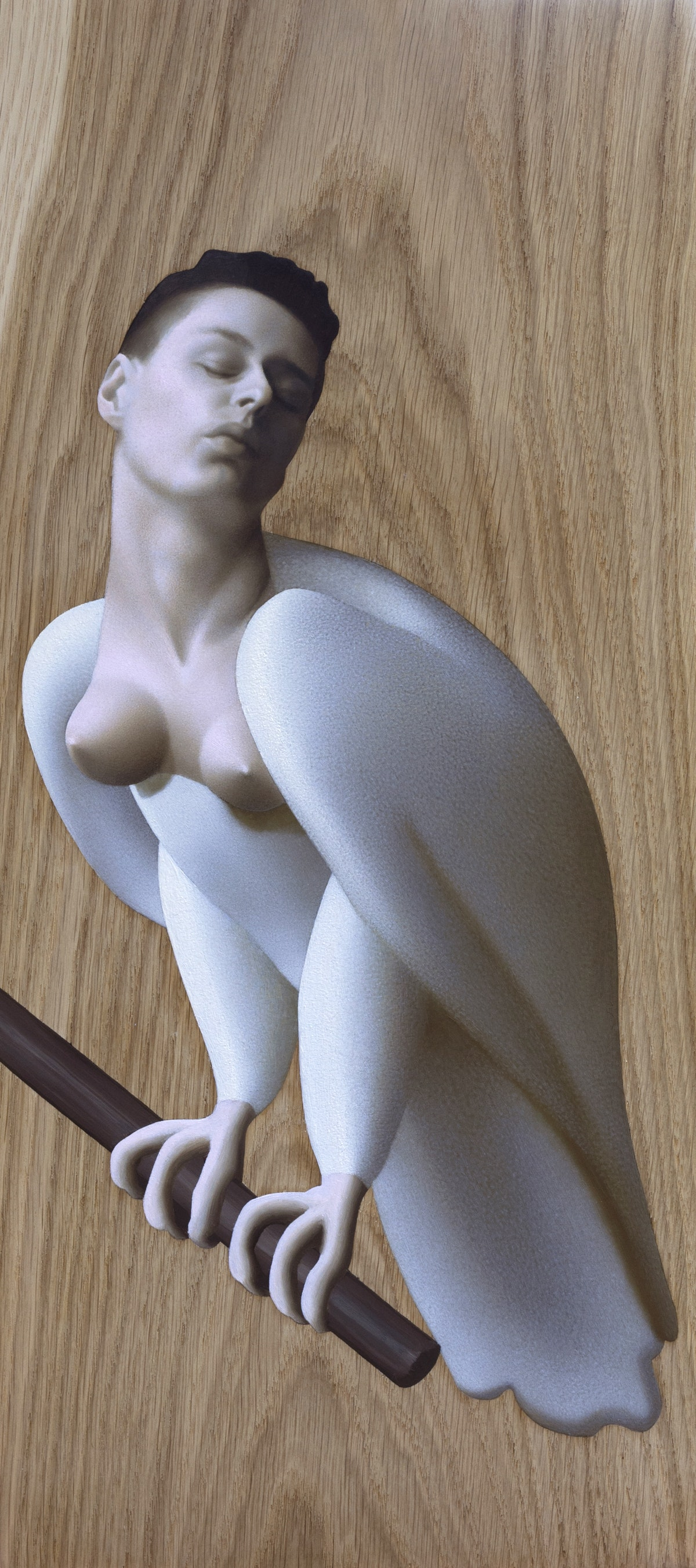 5 Kle Mens, Harpia, olej na desce, 24 x 54 cm, 2019