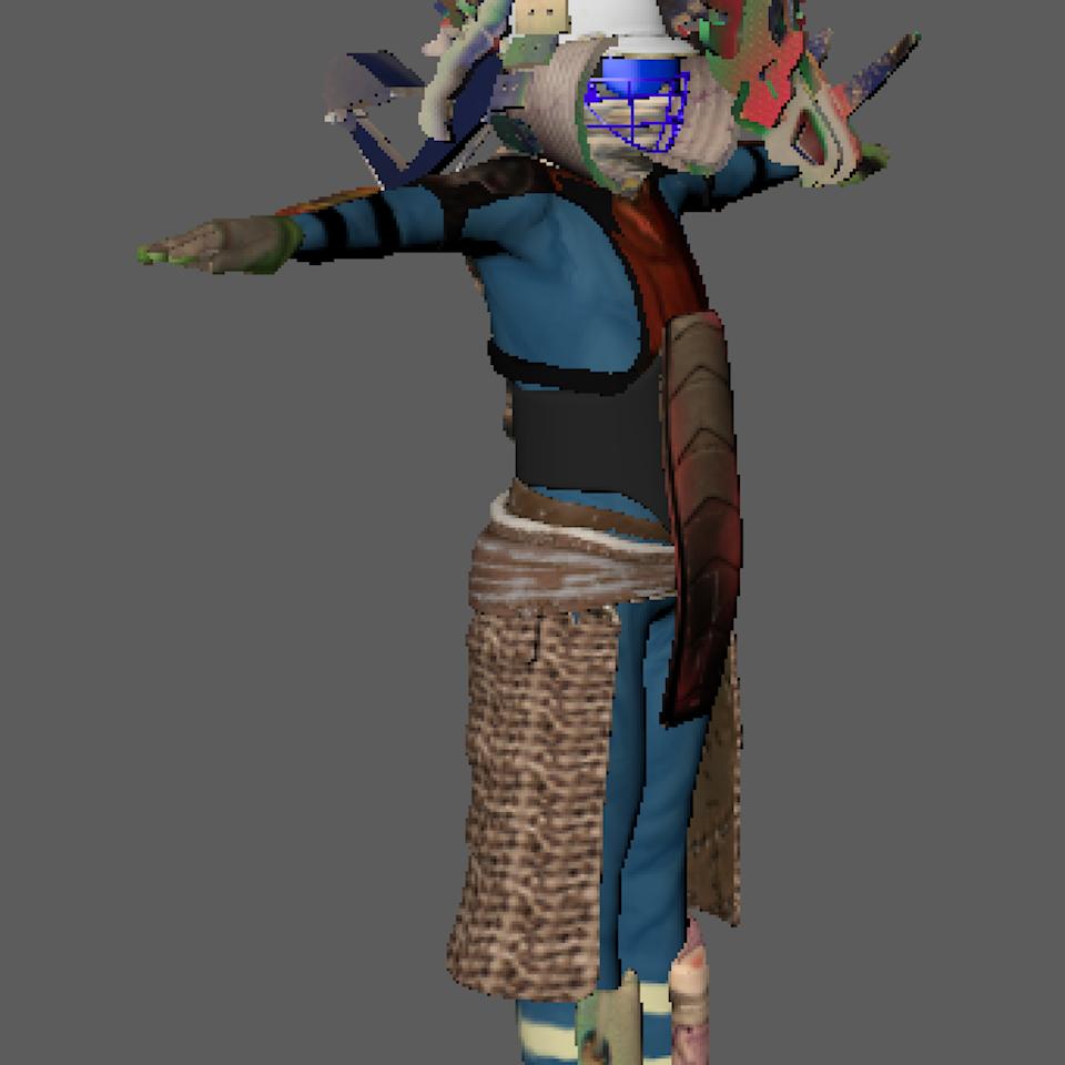 3D character design Screenshot 2019-08-20 at 22.13.49