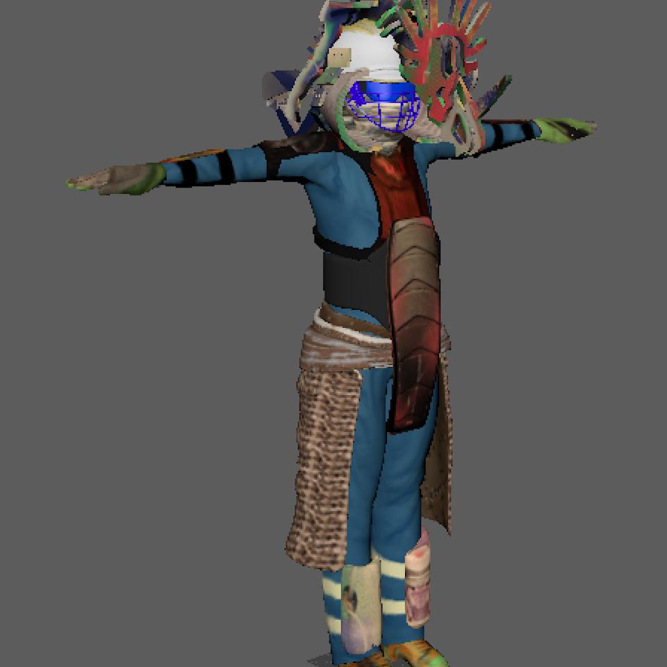 3D character design Screenshot 2019-08-20 at 22.06.53