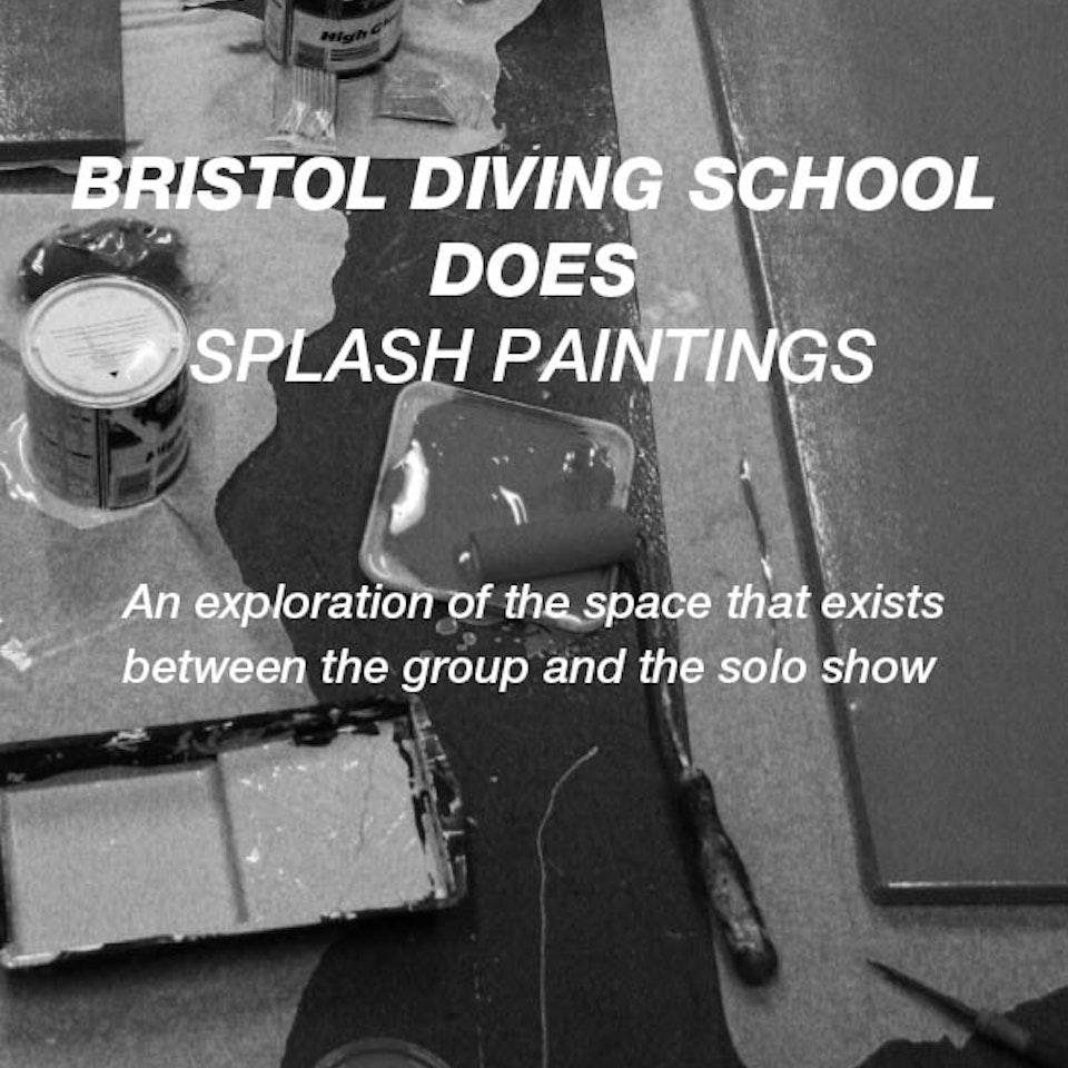 Bristol Diving School splash-paintings-poster