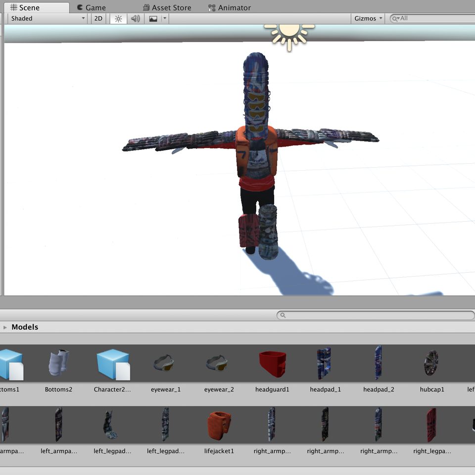 3D character design Screenshot 2019-05-07 at 08.44.56
