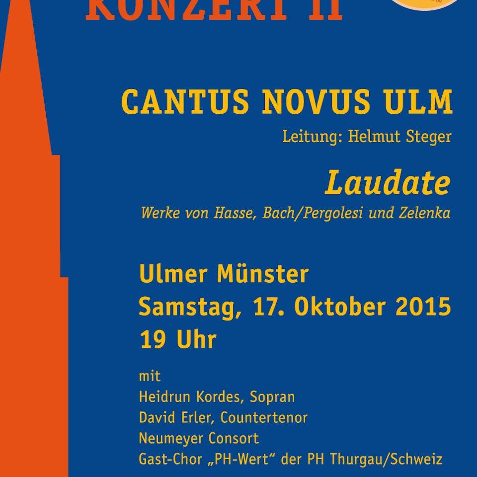 Cantus Novus Ulm - Geistliches Jubiläumskonzert