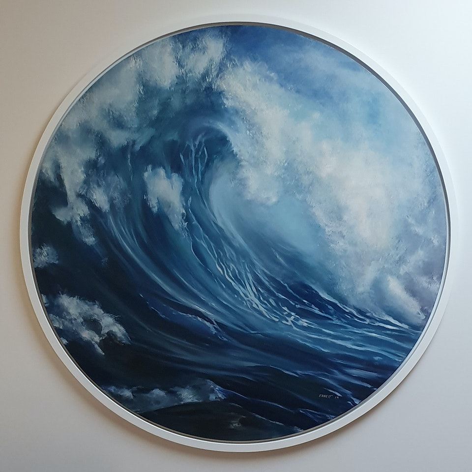 'The Great Wave' ~ Oil on Board. - 'The Great Wave' ~ Oil on Board. $3500