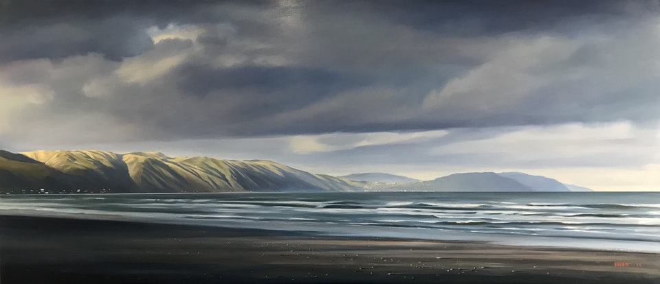 IMG_5971 - 'Paekakariki to Pukerua Bay'. Oil on board.