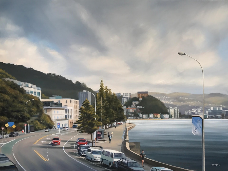 Oriental Parade - Oriental Parade 1010mm x 760mm  oil on canvas 2017
