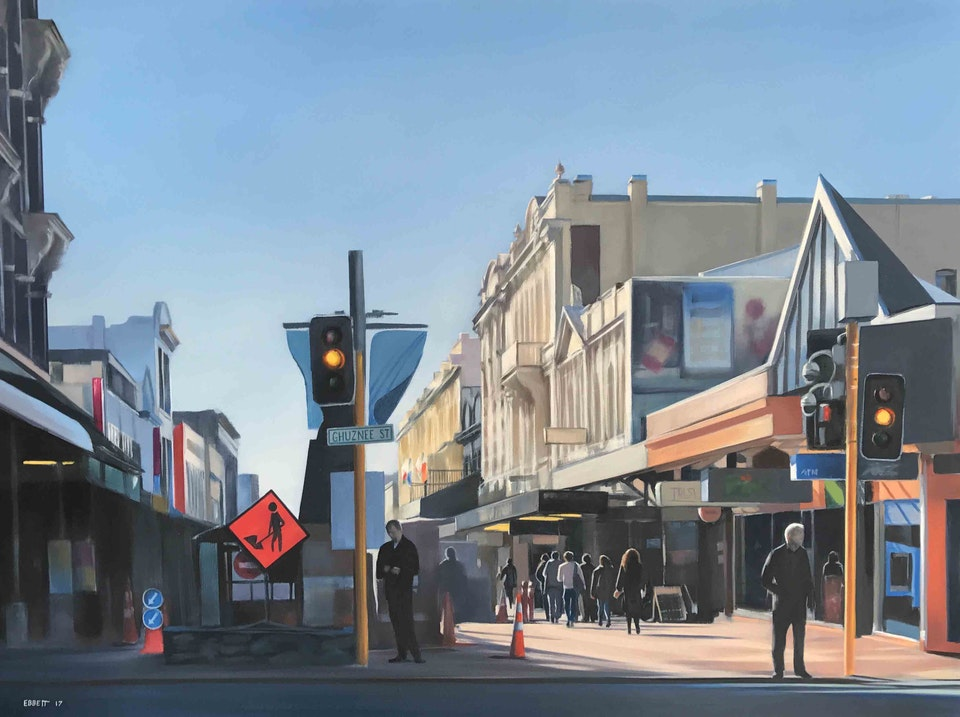 'Cuba Street' - 'Cuba Street' 1010mm x 760mm  oil on canvas 2017