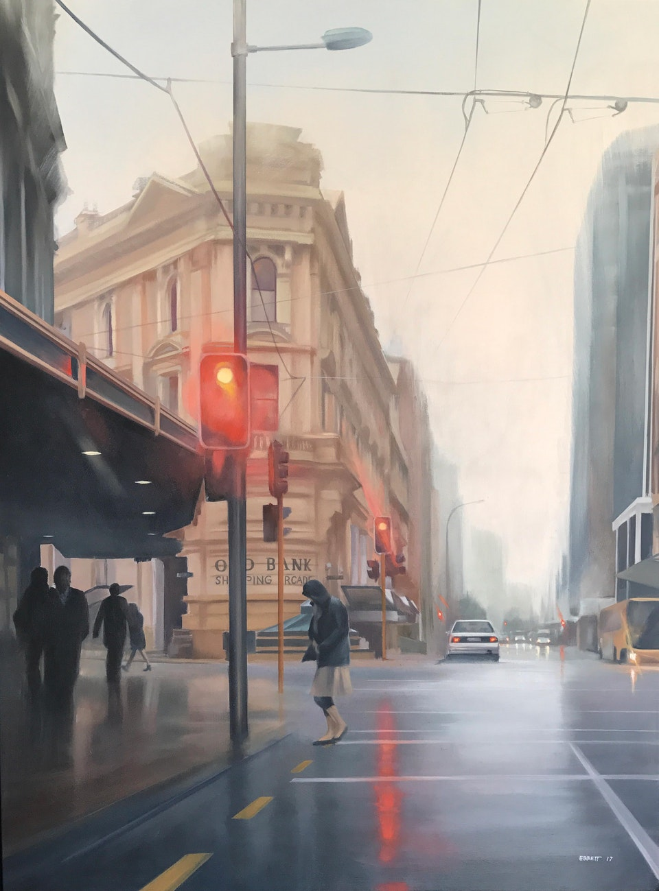 Old Bank Shopping Arcade - Old Bank Shopping Arcade 1010mm x 760mm  oil on canvas 2017