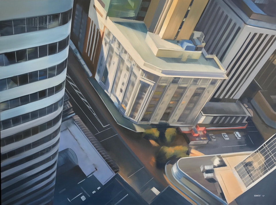 Lambton Quay and Grey Street - Lambton Quay and Grey Street 1010mm x 760mm  oil on canvas 2017