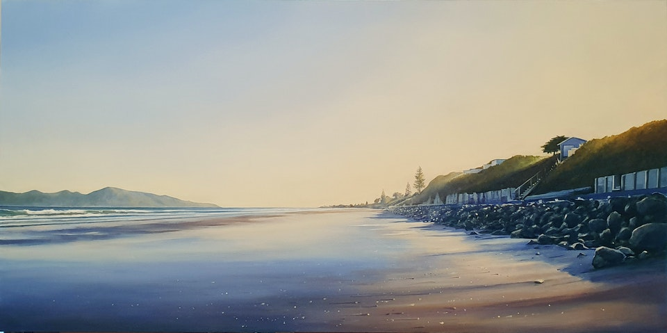 'Morning Light, Raumati South' ~ Oil on Board. - 'First Light, Raumati South II ~ Oil on Board' ***SOLD***