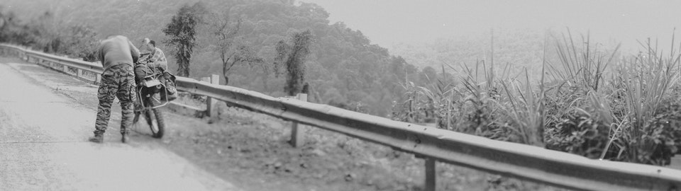 Vietnam by Dirtbike (2013) roadside