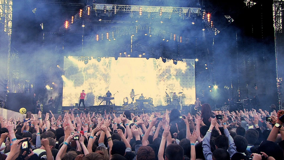 Linkin Park at Red Square, Moscow - Global Premiere of Transformers 3 for Paramount Pictures