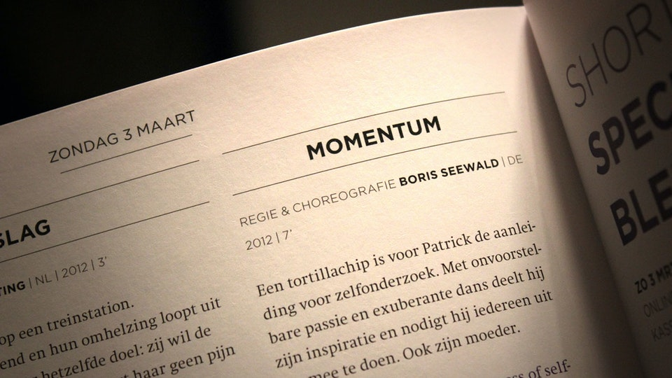 Momentum - Momentum in the catalogue of Cinedans