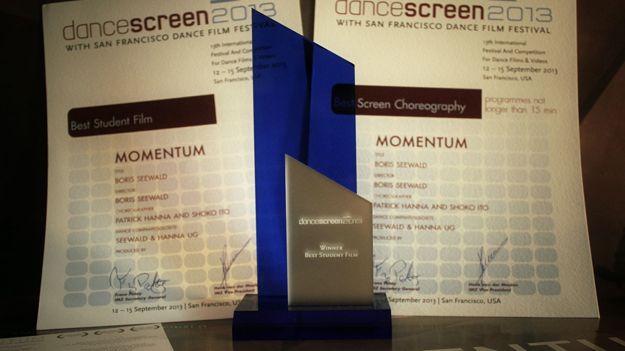 Momentum - Two Awards at the San Francisco Dance Film Festival